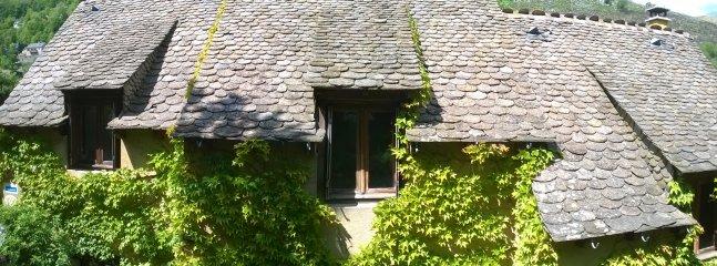 Schieferdächer der Hütten