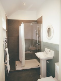 The bathroom in Matilda Studio with large shower