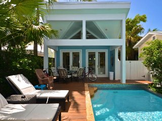Dog-friendly home w/ detached cottage, private pool, & walk to beach!