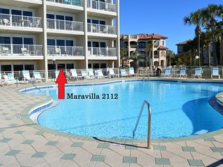Maravilla 2112 Remodeled (Jan 2018) Poolside Condo~55' Curved Tv~No Pets