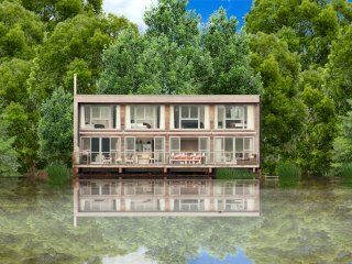 Swan Lodge Lakes by Yoo  sleeps 8 adults +2 kids, south facing, waterfront/spa