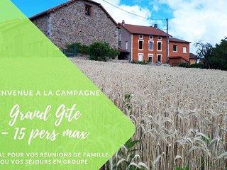 Grand Gite La Maison d'Alice - 15 pers - Roanne Loire
