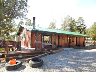Our Deer Cabin: Hot tub, 8 chair patio set, Jetted tub masterbath, central a/c