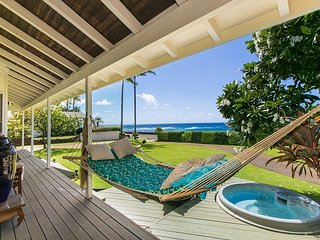 Poipu beach house getaway, surrounded by ocean, complete w/hammock n hot tub