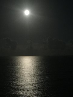 Moonrise Over the Atlantic!