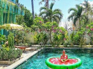 Private Four Bedroom Villa with Pool on Gili Trawangan.