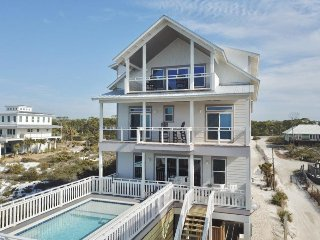 Gulf front! Elevated Private Pool! Elevator! Sleeps 14!