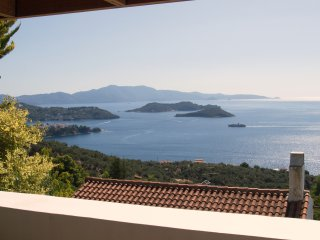 3 Br Villa Kleio with attic,shared pool and stunning sea views.