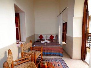 Chambre supérieur pour 3 personnes  Riad White Flowers Marrakech