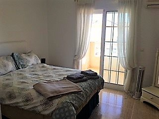 Bedroom 1 double with aircon and balcony