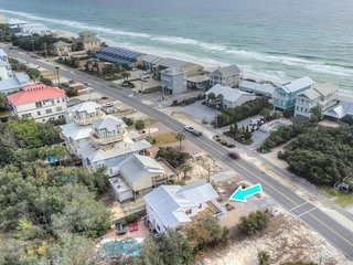 30A Getaway ~ Gulf Views ~ Private Heated Pool~ Beach Access Across Street