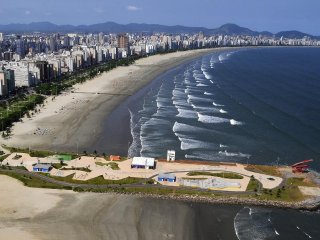 APARTAMENTO - SALA LIVING / apartment 40 m2 next to the beach in santos.