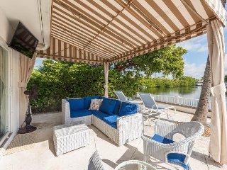 Upscale, waterfront dog-friendly villa w/ private pool, patio, & boat slip