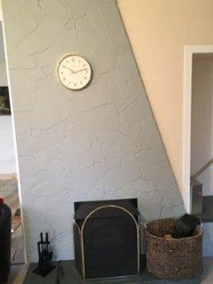 Log burner stove in the living room.  Logs provided.