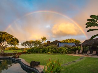 Privacy, Golf Course, Frontage and Ocean Views highlight this luxury estate home