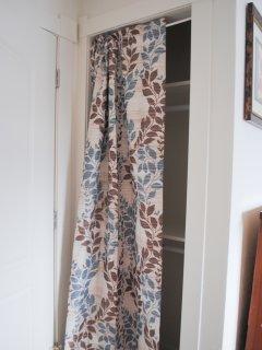 Closet in Queen Bedroom with Memory Foam mattress.
