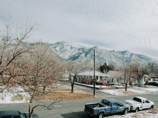 View of Mount Ogden from Breakfast Nook.