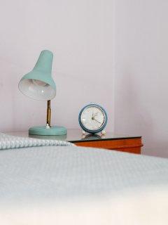 Original 60s lamp and clock