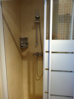 Family shower room.
