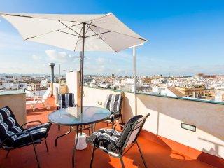 Guadiana Terrace. Top-floor apartment, city views