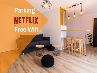 ★ Studio ToulouseCityStay Blagnac ★ Parking ★ Netflix ★ Wifi