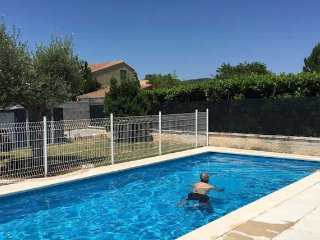 Calvissonn holiday villa South France with private pool sleeps 6