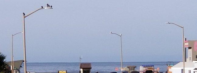 Ocean view from bedroom window
