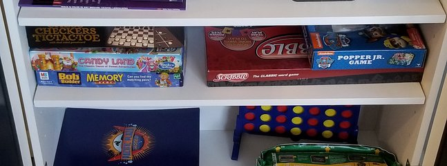 cards, board games, puzzles, magazines and more. Enjoy a family fun night!