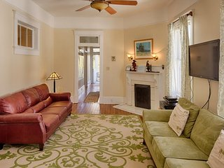 Walk your dog in Forsyth park from this double balcony Savannah condo