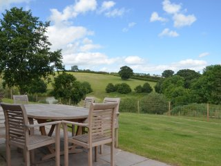 Dining area with spectacular countryside views