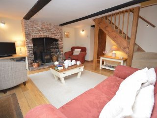 Character lounge with woodburner