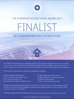 Best Healt & Wellness Holiday Home In Europe according to EHHA