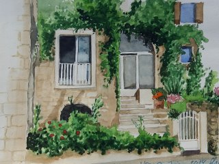 Au pays du marquis de Sade,maison de village avec vue imprenable sur le Luberon