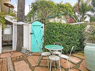 Romantic Studio Cottage w/ Private Patio—Walk to Beach, Near Shops & Dining