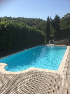 Guests can enjoy our 8m swimming pool in the summer.