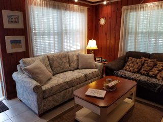 PATIO Cottage with queen sleeper sofa.