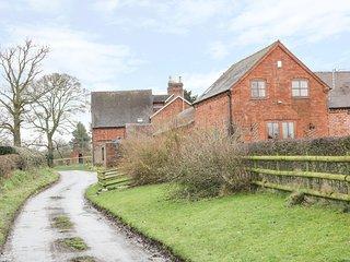 THE HAYBARN, barn conversion, exposed wooden beams, panoramic countryside views,