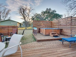 Dog-friendly home w/ deck, private hot tub, & fire pit - walk to Main Street