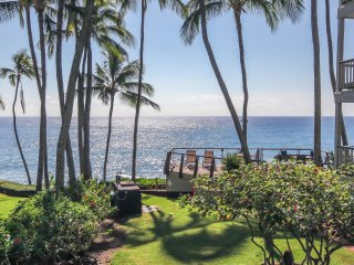 FREE Mid-size car Poipu Palms 102 Oceanfront 2 bed/2 bath in a small complex.