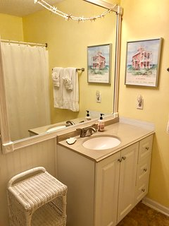 The Master Bath has been newly renovated.