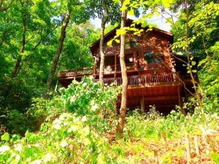 CRS MOUNTAIN RETREAT-2BR/1.5BA- BEAUTIFUL MOUNTAIN VIEW CABIN SLEEPS 4,