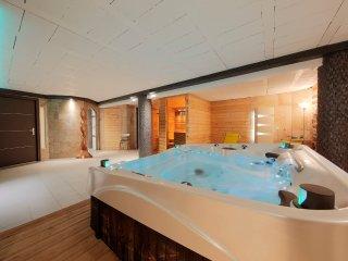 Chambre double, douche a l'italienne et une heure d'acces prive au SPA