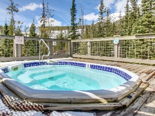Mountaintop beauty w/ balcony, shared hot tub & game room - on bus route!