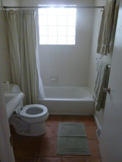 Upstairs, bathroom