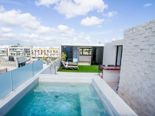 Penthouse for 8 FRIENDS! Enjoy private rooftop & pool! Close to the 5th Av