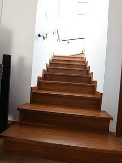 Parquet tiled Staircase leading to the Ground Floor