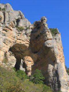 Dentelles rocheuses à Pommerol