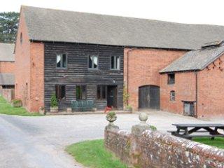 Idyllic countryside barn retreat, with games room.