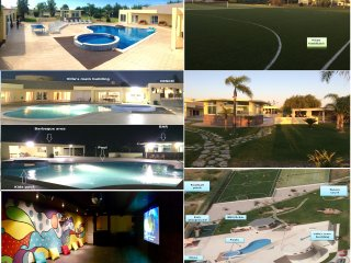 Huge modern villa in Portugal! 2 Pools, Football, Tennis, Cinema, Disco, BBQ!