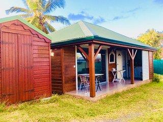 Maison tout équipée avec jardin clôturé et portail électrique. Proche aéroport.